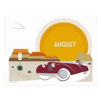 August Art Deco Desert Roadtrip Postcard