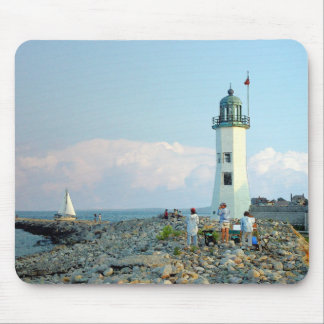 August at Scituate Light Mouse Pad
