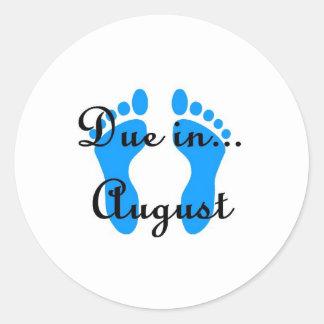 August Baby Classic Round Sticker