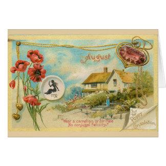 August Birthday Card