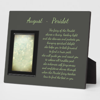 August Birthstone Peridot Plaque
