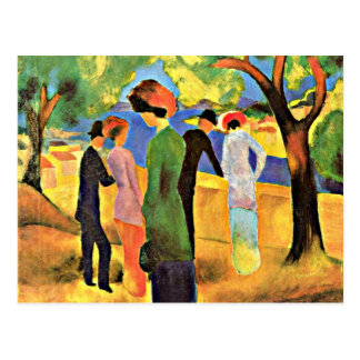 August Macke art: Woman in a Green Jacket Postcard