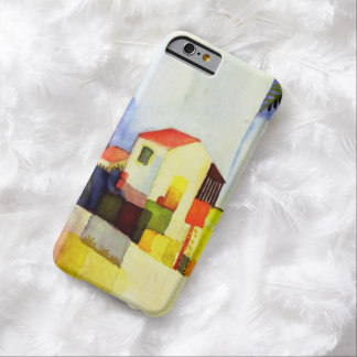 August Macke Bright House Watercolor Painting Barely There iPhone 6 Case