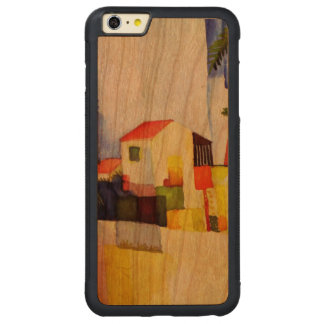 August Macke Bright House Watercolor Painting Carved® Cherry iPhone 6 Plus Bumper Case
