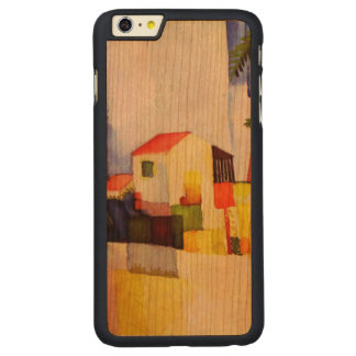 August Macke Bright House Watercolor Painting Carved® Cherry iPhone 6 Plus Case