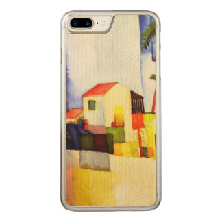 August Macke Bright House Watercolor Painting Carved iPhone 7 Plus Case