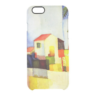 August Macke Bright House Watercolor Painting Clear iPhone 6/6S Case