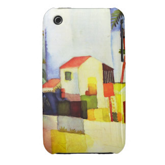 August Macke Bright House Watercolor Painting iPhone 3 Case