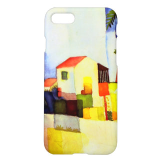 August Macke Bright House Watercolor Painting iPhone 7 Case