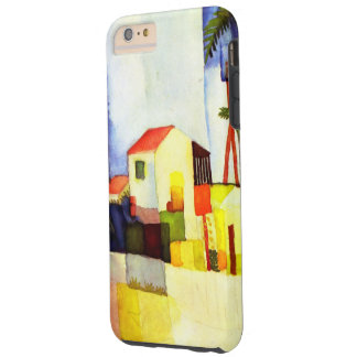 August Macke Bright House Watercolor Painting Tough iPhone 6 Plus Case