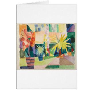 August Macke - Garden on Lake Thun Card