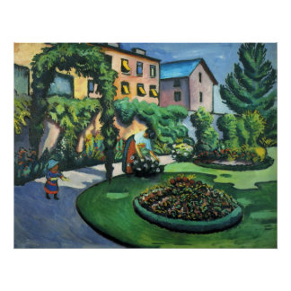 August Macke - Garden Picture 1911 oil on canvas Print