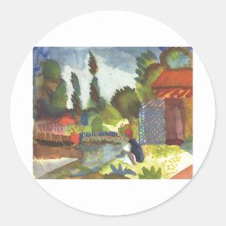August Macke - Iceland Shank w sitting Arab 1914 Sticker