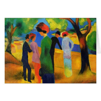 August Macke - Lady in a Green Jacket Greeting Card