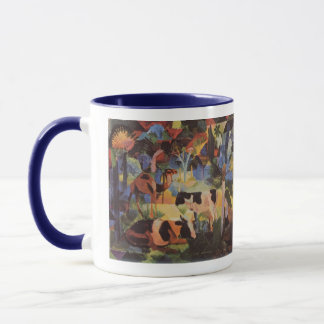 August Macke Landscape with Cows and Camel Mug