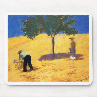 August_Macke Tree in Cornfield 1907 Oil and Pencil Mouse Pad