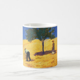 August_Macke Tree in Cornfield 1907 Oil and Pencil Coffee Mugs