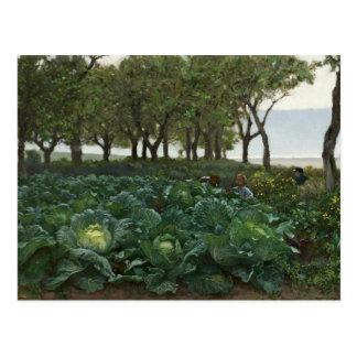 August Malmstrom - Children Playing in the Garden Postcard