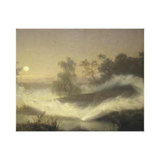 August Malmstrom - Dancing Fairies Canvas Print