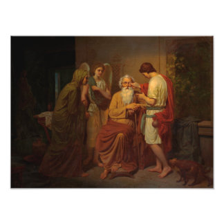 August Malmstrom - Tobias healing his blind father Photo Print