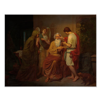 August Malmstrom - Tobias healing his blind father Poster