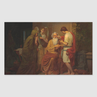 August Malmstrom - Tobias healing his blind father Sticker