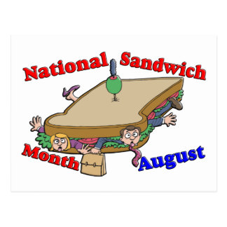 August- National Sandwich Month Postcard