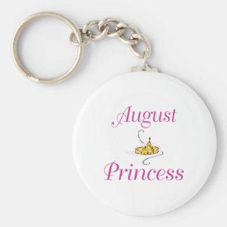 August Princess Basic Round Button Keychain