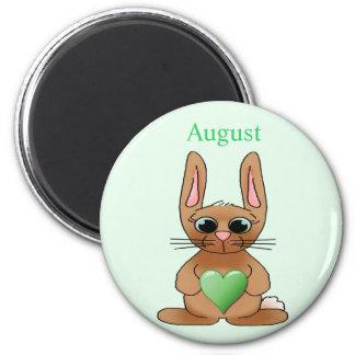 August Rabbit Birthstone Peridot Magnet