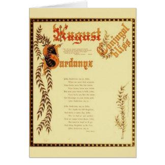 August Sardonyx Card