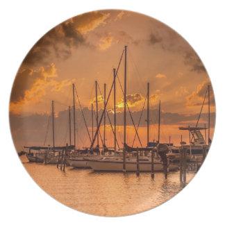 August Sunset Plate