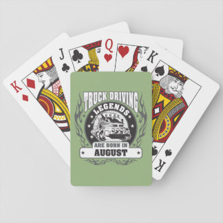August Truck Driving Legends Playing Cards