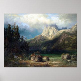 August Wilhelm Leu Mountain Poster
