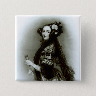 Augusta Ada Byron  Countess of Lovelace 2 Inch Square Button