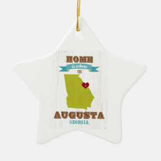 Augusta, Georgia Map – Home Is Where The Heart Is Ceramic Ornament