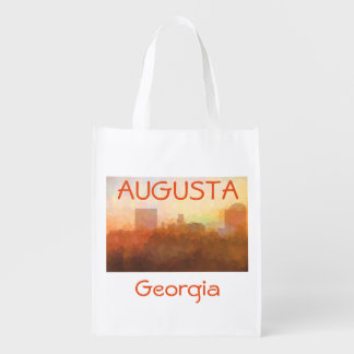 AUGUSTA GEORGIA SKYLINE - In the Clouds Reusable Grocery Bag