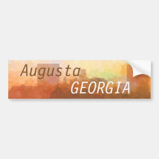 AUGUSTA, GEORGIA SKYLINE In the Clouds-Stickers Bumper Sticker