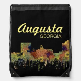 Augusta Georgia Skyline. SG-Safari Buff Drawstring Bag