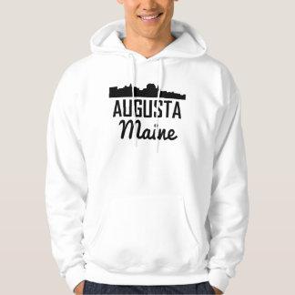 Augusta Maine Skyline Hoodie