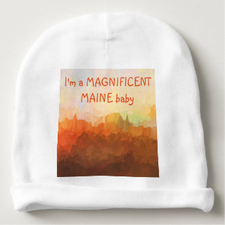 Augusta Maine Skyline IN CLOUDS Baby Beanie