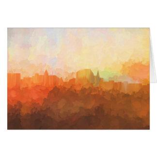Augusta Maine Skyline IN CLOUDS Card
