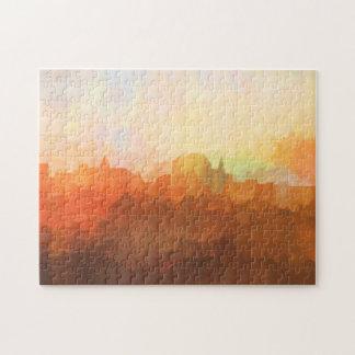 Augusta Maine Skyline IN CLOUDS Jigsaw Puzzle