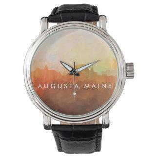 Augusta Maine Skyline IN CLOUDS Watch