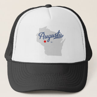 Augusta Wisconsin WI Shirt Trucker Hat