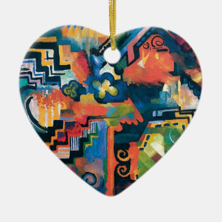 Auguste Macke - Homage To Bach Abstract Modern Art Ceramic Ornament