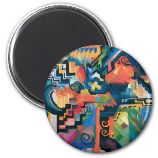 Auguste Macke - Homage To Bach Abstract Modern Art Magnet