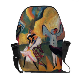 Auguste Macke - Russian Ballet Dancers on Stage Commuter Bag