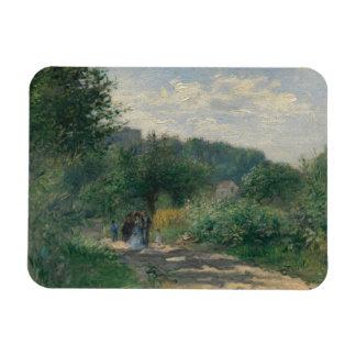 Auguste Renoir - A Road in Louveciennes Magnet