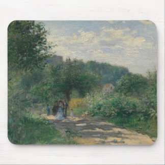 Auguste Renoir - A Road in Louveciennes Mouse Pad