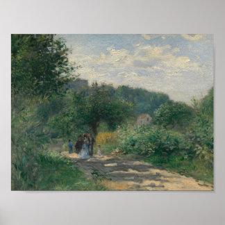Auguste Renoir - A Road in Louveciennes Poster